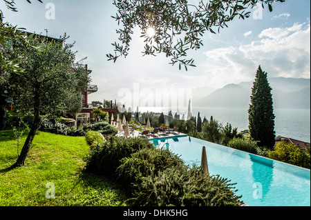 lago di garda view from tremosine to north east monte baldo italy stock photo royalty free. Black Bedroom Furniture Sets. Home Design Ideas