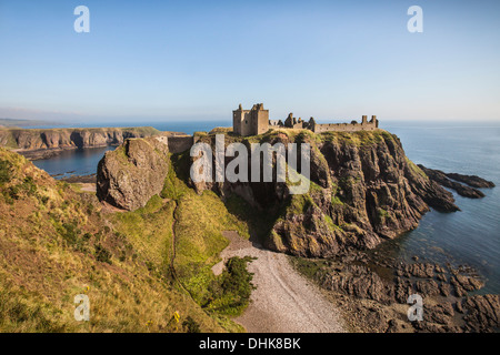 Dunnottar Castle near Stonehaven in Aberdeenshire,Scotland. - Stock Photo