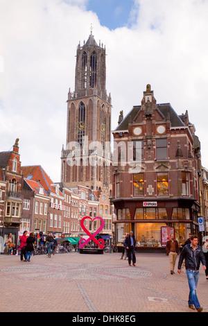 Europe,Netherlands,Utrecht,Cathedral of St. Martinus - Stock Photo