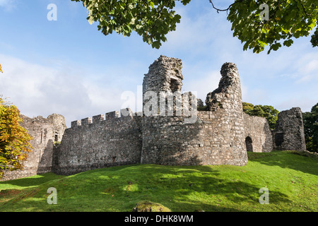 Old Inverlochy Castle at Fort William in the Highlands of Scotland. - Stock Photo