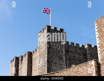 View of The Great Tower, at Dover Castle, Dover, Kent, UK - Stock Photo