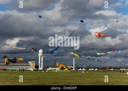 Dragon Festival at former airport Tempelhof, Berlin, Germany - Stock Photo