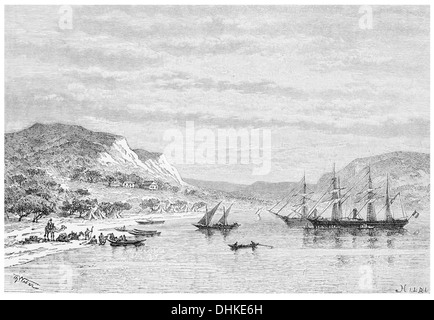 1888 Obok view taken from the roadstead Djibouti Gulf of Aden - Stock Photo