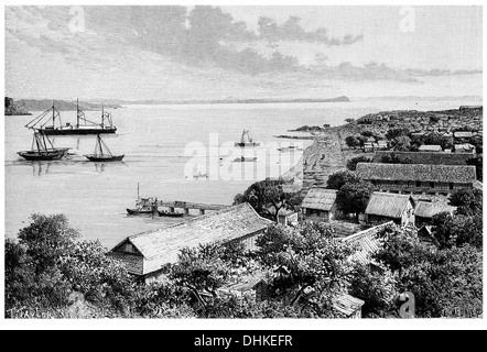 1888 Diego suarez Bay view taken at Antsirana Madagascar - Stock Photo