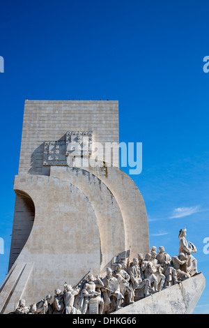 Padrao dos Descobrimentos, Discoveries Monument in Belem on the northern bank of the Tagus River, Lisbon, Lisboa, - Stock Photo