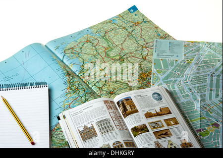 Planning a city break holiday.tourism - Stock Photo