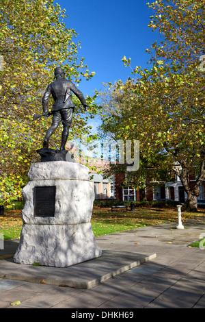 War memorial in Palmyra Square, Warrington, Cheshire - Stock Photo