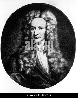 Sir Isaac Newton (1642-1727), English Mathematician and Physicist, Portrait - Stock Photo