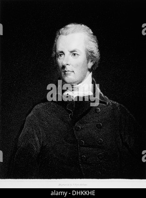 William Pitt the Younger (1759-1806), British Statesman and Youngest Prime Minister, Portrait - Stock Photo