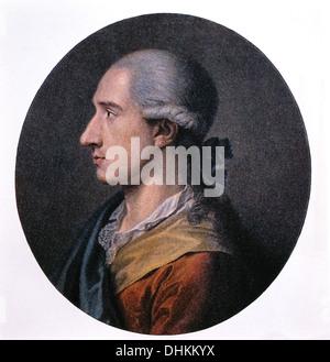 Johann Wolfgang von Goethe (1749-1832), German Poet, Dramatist, Novelist and Scientist, Portrait, 1773 - Stock Photo