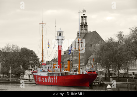 Lightship in the Old Inland Port - Stock Photo