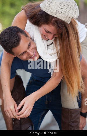 Young Couple having fun in the city - Stock Photo
