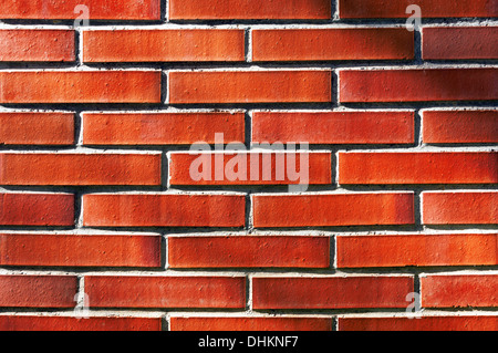 background of wall with red bricks - Stock Photo