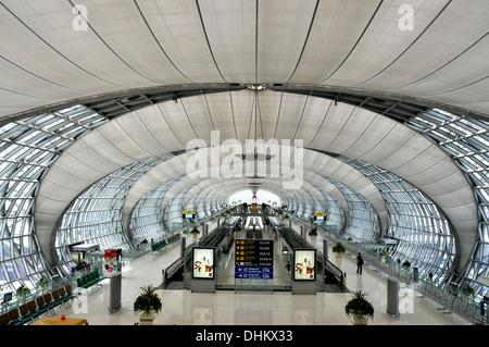Suvarnabhumi airport Bangkok Thailand - Stock Photo