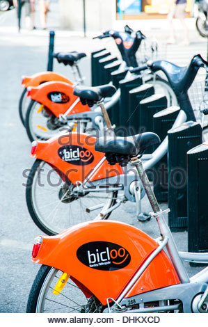 france loire atlantique nantes bicloo rent a bike for free stock photo royalty free image. Black Bedroom Furniture Sets. Home Design Ideas