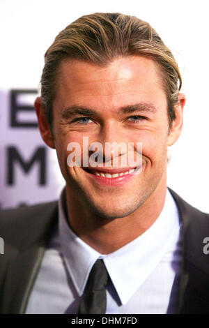 Chris Hemsworth  'Marvel's The Avengers' premiere during the closing night of the 2012 Tribeca Film Festival at - Stock Photo
