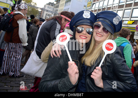 Carnival, which is known as 'Fastelovend' in the local Kölsch dialect, is very important in Cologne. 11:11 a.m. - Stock Photo