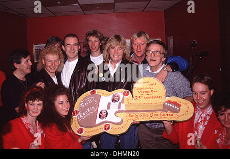 Status Quo celebrate their 25th anniversary at Butlins - Stock Photo