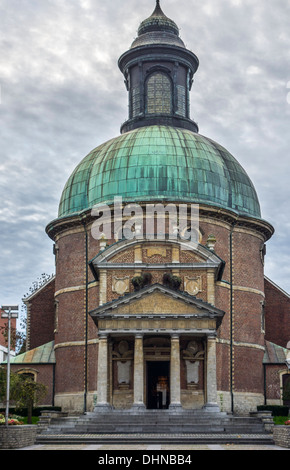 The Saint Joseph's church / Sint-Jozefskerk, Royal Chapel in Waterloo, Belgium - Stock Photo