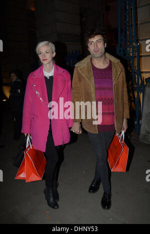London, UK  . 13th Nov, 2013. Celebrities Attend the Launch Event  for Skate at Somerset House in London: Guest - Stock Photo