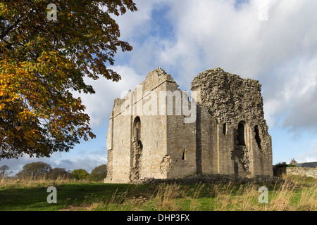 Bowes Castle 12th Century Medieval Keep Teesdale County Durham UK - Stock Photo