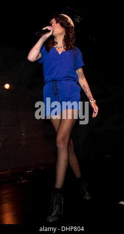 Cher Lloyd performing at XL Nightclub  New York City, USA - 11.05.12 - Stock Photo