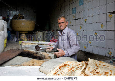 Iran,Azerbaijan region,Masuleh,bakery - Stock Photo