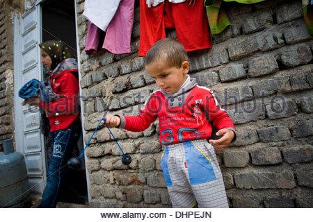 Iran,Azerbaijan region,Kandovan,child - Stock Photo