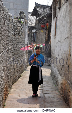 China,Guizhou province,Yunfen village,girl - Stock Photo