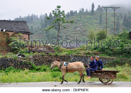 China,Guizhou province,Zhaoxing village,daily life - Stock Photo