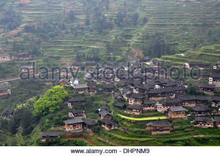 China,Guizhou province,Zhaoxing village - Stock Photo