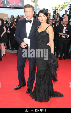 Hilaria Thomas and Alec Baldwin 'Moonrise Kingdom' premiere at the Opening Ceremony of the 65th annual Cannes Film - Stock Photo