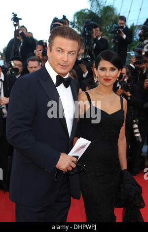 Alec Baldwin and Hilaria Thomas 'Moonrise Kingdom' premiere - during the Opening ceremony of the 65th Cannes Film - Stock Photo