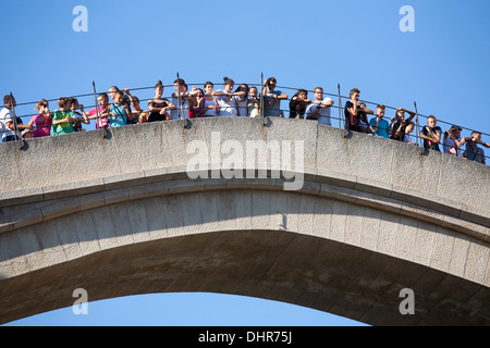 the old bridge, mostar, bosnia and herzegovina, europe - Stock Photo