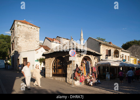 old town, kujundziluk street, shop, east side, mostar, bosnia and herzegovina, europe - Stock Photo