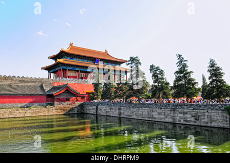 North exit Forbidden City Beijing China - Stock Photo