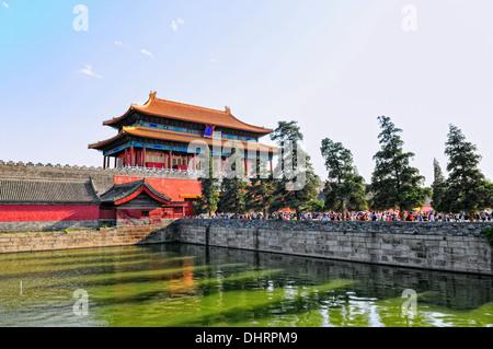 North exit Forbidden City Beijing China - Stock Photo