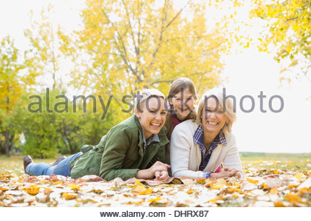 Portrait of female family members outdoors - Stock Photo