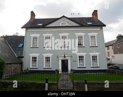 Front exterior view of Ivy Towers Grade II listed building in Crickhowell, Powys, Wales UK  KATHY DEWITT - Stock Photo