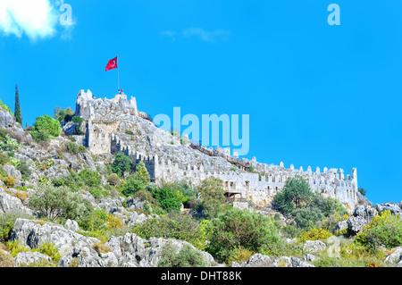 Simena Castle Turkey Kale - Stock Photo
