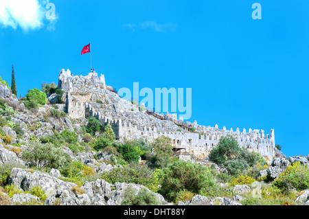 Simena Castle Turkey Kale soft - Stock Photo