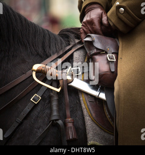 Close-up harness and saber at Polish cavalry. - Stock Photo