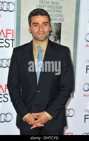 Los Angeles, CA, USA. 14th Nov, 2013. Oscar Isaac at arrivals for INSIDE LLEWYN DAVIS Premiere at AFI FEST 2013 - Stock Photo