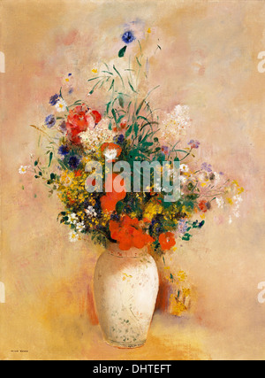 Vase of Flowers - by Odilon Redon, 1904 - Stock Photo