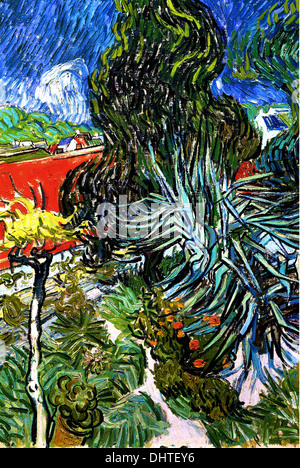 Vincent Van Gogh Garden In Montmarte With Lovers 1887 Oil On Canvas Stock Photo Royalty Free