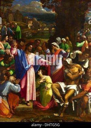 The Raising of Lazarus - by Sebastiano del Piombo, 1519 - Stock Photo