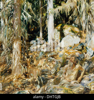 The Hermit ( Il solitario ) - by John Singer Sargent, 1908 - Stock Photo