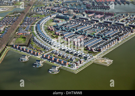 Netherlands, Heerhugowaard, District called City of the Sun, Dutch: Stad van de Zon. All houses with solar panels. - Stock Photo