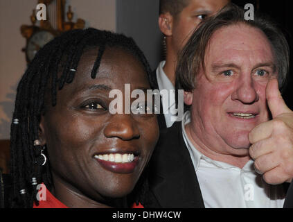 Salzburg, Austria. 14th Nov, 2013. Auma Obama, author and half sister of th US-president and French actor Gerard - Stock Photo