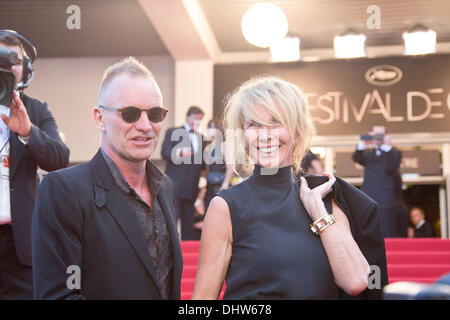 Sting and his wife Trudie Styler,  'Mud' premiere during the 65th Annual Cannes Film Festival. Cannes, France - - Stock Photo